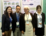 Elaine Nevin with Ann Finlayson, director of SeeD UK, with representatives of ESD in China